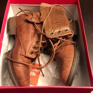 Brown boots from Just Fab